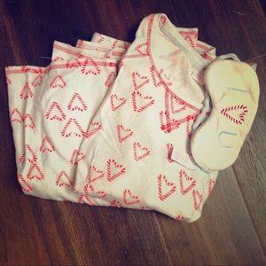 Make Model brand candy cane heart Pajamas